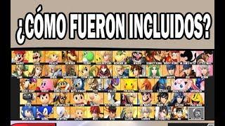 ¿Cómo fueron incluidos los personajes del Super Smash Bros for Wiiu/3ds?