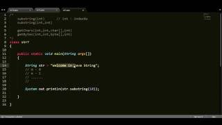 how to split string using substring function in java?