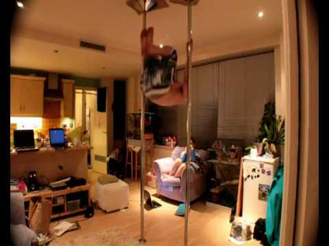 Me and Kieron pole dancing. New spin i never seen anywhere else before- ...