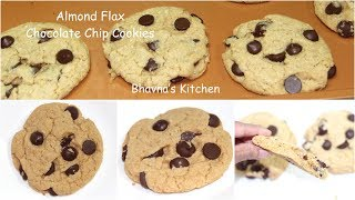 The Best Almond Flax Chocolate Chip Cookies Video Recipe | Bhavna's Kitchen