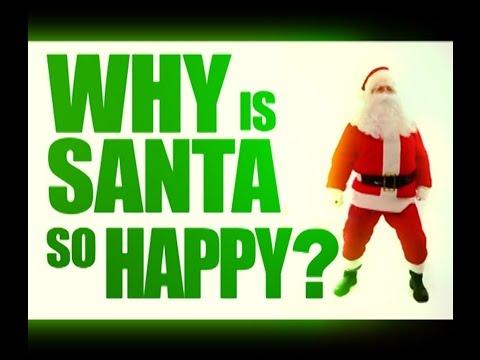 Star Shower Motion. Santa is Happy!