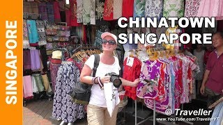 """We are visiting Singapore´s Chinatown (including Pagoda Street) which also houses the Sri Mariamann Temple (a Hindu Temple) and the Buddha Tooth Relic Temple and Museum, all of them some of Singapore's Top Attractions! This tour of Singapore´s Chinatown district begins at the main archway to Chinatown at Pagoda Street (the Chinatown shopping street) and South Bridge Road, which is also the location of the Hindu temple which is called  the Sri Mariamann Temple. Before proceeding down the Pagoda Chinatown shopping street we stop to admire the beautifully decorated Sri Mariamann Temple tower. The viewer is then taken on a walking tour down Pagoda Street where they are given an idea of what type of shops are there and the type of restaurants there are to eat at. At the end of Chinatown's Pagoda Street the viewer is given a view of the Chinatown Heritage Center and the location of the Chinatown MRT Station (Mass Rapid Transit - Singapore´s Railway / train system). We (Maxi and Maro) then stop to do some shopping so that we can buy some """"Bakkwa"""" (Bakkwa, also known as Rougan, is a Chinese salty-sweet dried meat). We then carry on with our tour of Singapore´s Chinatown and walk up Trengganu Street over Smith Street until we arrive at the main Chinatown Food Street. The Chinatown Food street is full of Chinese restaurants offering a diverse selection of Chinese and Singaporean food dishes (Singapore Street Foods). The video footage ends with a tour of Chinatown´s Buddha Tooth Relic Temple and Museum where we go inside and explore the temple and also visit it´s beautiful roof top garden which also houses the Vairocana Buddha Prayer Wheel which is the largest cloisonné Buddha Prayer Wheel in the world.Chinatown, along with Little India and the Arab Quarter are without doubt some of Singapore´s Top City Attractions.Wiki writes about the Singapore Chinatown area, """"Chinatown (Chinese: 牛车水; Pe̍h-ōe-jī: Gû-chia-chúi, Malay: Kreta Ayer, Tamil: சைனா டவுன்) is a subzone and ethnic en"""