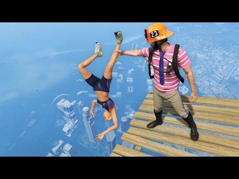 GTA 5 Water Ragdolls/Falls episode 9 (Flooded Los Santos)