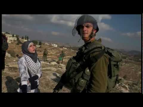 Words vs. Israeli soldiers- Demonstration in Nabi Salih, Palestine, 25.11.2011