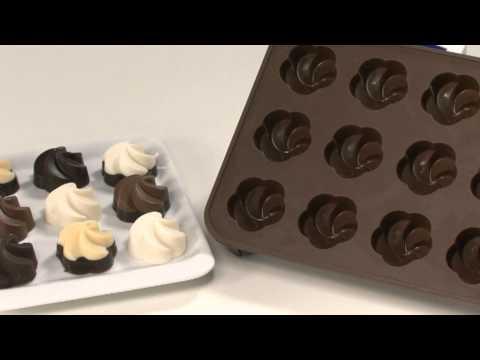 Видео Формочки для шоколада Tescoma Формочки для шоколада DELICIA SILICONE, шокомикс Tescoma 629368