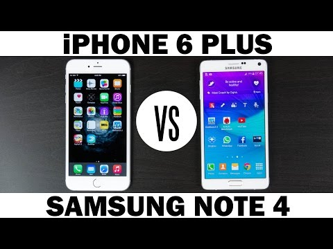 samsung - Here is our full comparison of the Apple iPhone 6 plus Vs Samsung Note 4. More information on the Samsung Note 4: http://amzn.to/1se7P47 Follow Majid on Twit...