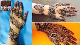 Three Amazing Mehndi Design For Hands  Wedding/Festival Season Henna Mehendi PatternClick For Best Mehndi CONES http://amzn.to/2tv0G6tMehndi Book http://amzn.to/2uXN6XmClick For Indian Bridal Saree/Wedding Saree http://amzn.to/2tv4ODtif you have any request just comment down below... email id: mehndiartistica@gmail.comFb Page: https://m.facebook.com/MehndiArtisticaInstagram: MehndiArtisticaproTwitter MehndiArtisticaYoutube: https://www.youtube.com/user/MehndiArtisticaLearn beautiful DIY henna/mehndi design in this tutorial.its specially made for Eid 2017 mehndi designs, Diwali 2017 mehndi designs, bridal mehndi designs, and all party mehndi designs...I always try to make latest mehndi designs and new mehndi designs and simple mehndi designs for beginners...hope you all are doing well...So, here is my new and latest Mehndi design Tutorial for you all, do watch and enjoy.I upload most famous mehndi designs on youtube.I am best mehndi/henna designer in India.I make Arabic mehndi designs, Indian mehndi designs, Pakistani mehndi designs, intricate mehndi designs, mandala mehndi designs, ornamental, jewelry, gulf, egyptian, etc.., so you will find best  mehndi/henna designs on my channel, MehndiArtisticaThis Mehndi Pattern is for modern bride, it's a full hand intricate Mehendi design hope you guys will appreciate it :)Mehndi, the ancient art of painting on the skin with henna, beautifies the body, rejuvenates the spirit, and celebrates the joys of creativity and self-expression :)Mehndi, the ancient art of painting on the skin with henna, beautifies the body, rejuvenates the spirit, and celebrates the joys of creativity and self-expression.THANKS ! LOVE YOU ALL :)