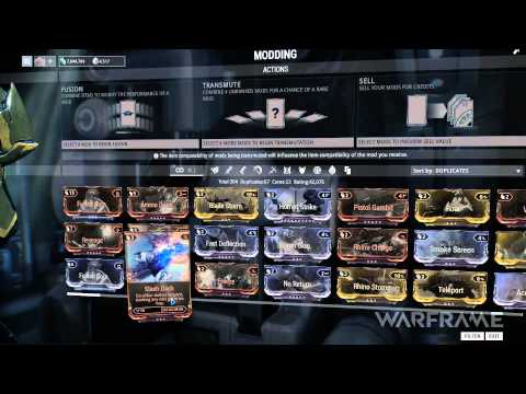 Warframe Tutorial – Mods
