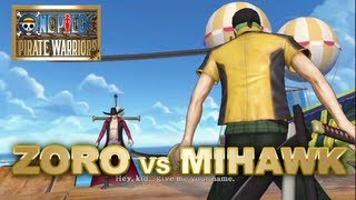 One Piece Pirate Warriors PS3 - Zoro VS Mihawk