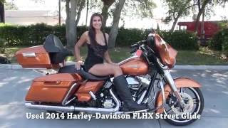 8. USED Harley Davidson Street Glide with Tour Pack 2014 Streeet Glide