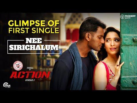 Action Tamil Movie I Nee Sirichalum Song Teaser