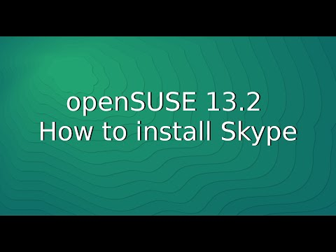 openSUSE 13.2 – How to install Skype