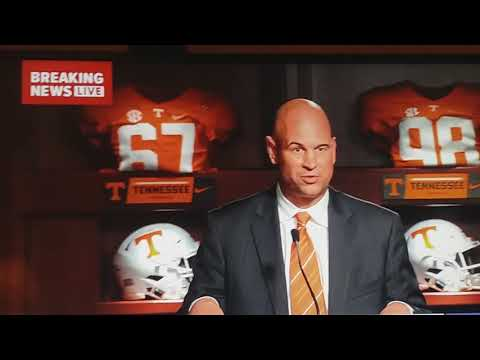 Jeremy Pruitt Press Conference @ Tennessee