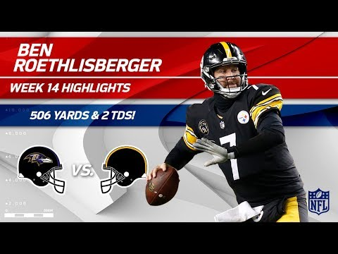 Video: Ben Roethlisberger Goes 44 for 66 w/ 506 Yards Passing! | Ravens vs. Steelers | Wk 14 Player HLs