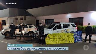 Cerca de duas toneladas apreendidas em rodovias do centro-oeste paulista