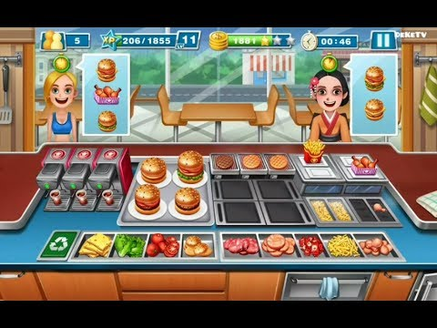 Crazy Cooking Chef - Burger Shop Fast Food Level 40 | Kitchen Queen Fully Upgraded