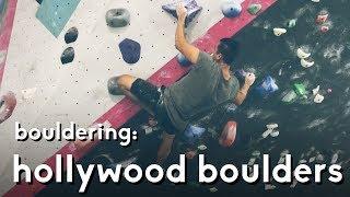 Hollywood Boulders: Climbing a Purple V5 Problem by  rockentry