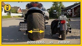 Video Boss Hoss gets Harley Davidson Fatboy to look like a moped MP3, 3GP, MP4, WEBM, AVI, FLV Juni 2019