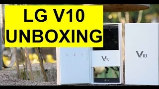 Unboxing LG V10 e prime impressioni