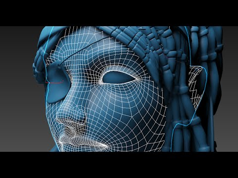 pirate woman head modelling 3ds max tutorial