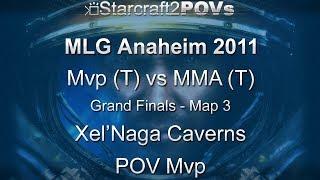 SC2 WoL - MLG Anaheim 2011 - Mvp vs MMA - Grand Final - Map 3 - Xel'Naga Caverns - Mvp