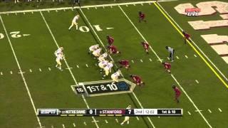 Chase Thomas vs Notre Dame (2011)