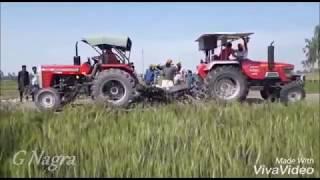 Tractor Tochan Arjun VS Massey 9500 Mukabla | G Nagra