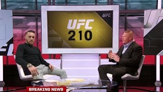 Conor McGregor Talking To Brock Lesnar About UFC 210 News And Fights!UFC Videos - https://www.youtube.com/playlist?list=PLkxxZxmDCkMamZuBQxC7tlUfOjHH9Xs20 SUBSCRIBE