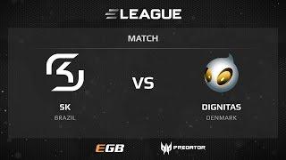 SK vs dignitas, map 3 overpass, ELEAGUE Season 2