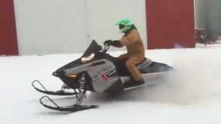 10. 2011 Polaris 800 switchback assault snowmobile first run