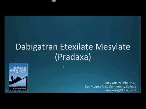 How to pronounce dabigatran (Pradaxa) (Memorizing Pharmacology Extended Explanation)