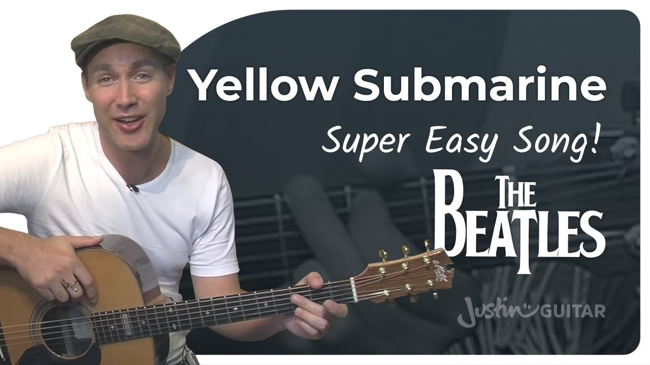 Yellow Submarine – The Beatles (Very Easy Songs Beginner Guitar Lesson BS-305) How to play