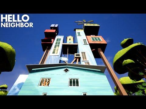 The Neighbor's BIGGEST HOUSE YET!!!! | Hello Neighbor (Mods) (видео)