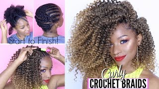 """HOW TO DO CURLY CROCHET BRAIDS FROM START TO FINISH! 🌸Hey, babes! For this crochet braid tutorial, I'll be using water wave hair to show you how to create the perfect natural hair protective style for summer. New videos MWF!Thanks for watching :)⇣ My Crochet Toolkit ⇣Au Rebelle carrot sealing oil http://bit.ly/2tkpUlsLatch hook / crochet needle http://amzn.to/2tuDJlmWater Wave hair 12"""" (5 'bundles')http://bit.ly/2u3jji8 or http://bit.ly/2vJhTYf*different options are available onlineLotta Body foaming mousse http://amzn.to/2tuKy6QCreme of Nature Perfect Edges black http://amzn.to/2uEe9dFEcoStyler olive oil gel http://amzn.to/2tuDw1y⇣ Helpful Videos ⇣HOW I STYLE THIS HAIR: https://youtu.be/UGrloW3U0h4HOW TO MAINTAIN CROCHET BRAIDS: https://youtu.be/VoBzRsy3-CcMy FULL FACE Makeup Routine: https://youtu.be/tqXGW-btMOgMY CROCHET BRAIDS PLAYLIST: https://www.youtube.com/playlist?list=PL3wZ0hUMe2hJOJVzJwSMdl5oEahiLw_Eb😋Welcome to my channel! I'm Jodi, and I share my creative ideas through TheBrilliantBeauty by uploading weekly beauty tutorials. My hope is to inspire you to try something new and be confident in the process.⇣KEEP UP WITH MEINSTAGRAM: @thebrilliantbeautySNAPCHAT: brilliantb3autyTWITTER: @BrilliantJodianFACEBOOK: The Brilliant BeautyPINTEREST: The Brilliant BeautyBooking email ⇢ thebrilliantbeautybiz@gmail.com--EQUIPMENT I FILM WITH--Canon 80D http://amzn.to/2a3vnHQRing Light http://amzn.to/2arNbfA--MUSIC--https://soundcloud.com/nalazeus/its-on-me-joshua-hales-nalazeushttps://www.youtube.com/nocopyrightsoundsFTC: Video is not sponsored. Some affiliate links are included, which means I may make a small commission if you choose to purchase anything I used in the video."""