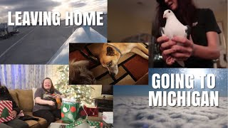 Leaving Home + Going To Michigan! W/Friends + Animals   Vlogmas Day 5 by Emma Lynne Sampson