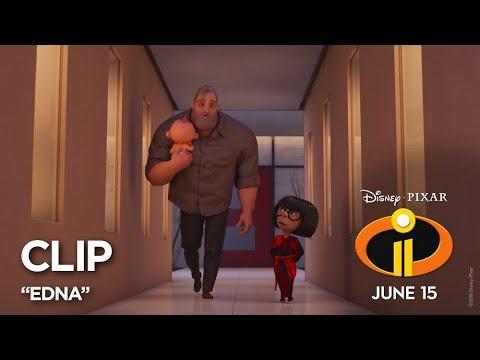 "Incredibles 2 Clip - ""Edna"" - Thời lượng: 35 giây."