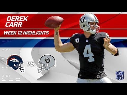 Video: Derek Carr Puts Together 2 TDs & 253 Yards vs. Denver! | Broncos vs. Raiders | Wk 12 Player HLs