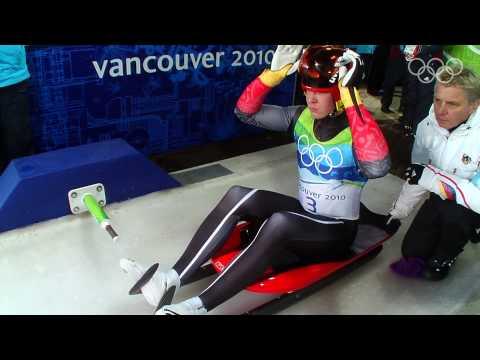 Felix Loch (GER) Wins Men's Luge Gold - Vancouver 2010 Winter Olympics