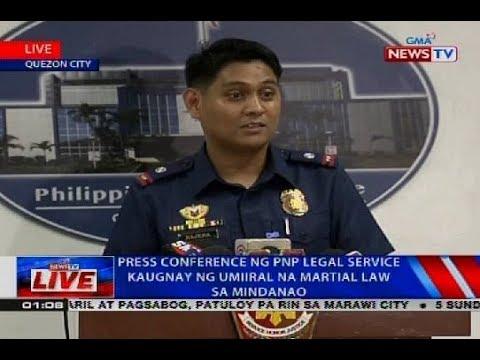 Press conference ng PNP Legal Service kaugnay ng umiiral na Martial Law sa Mindanao