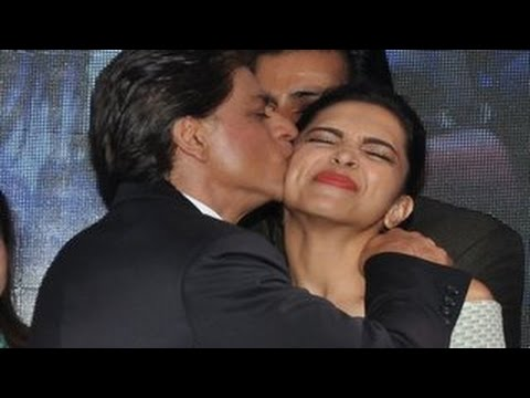 kisses - Watch Bollywood stars Shahrukh Khan, Deepika Padukone kissing each other and their co-stars at the 'Sharabi' Happy New Year song Launch.. For more Bollywood HIDDEN TRUTH!