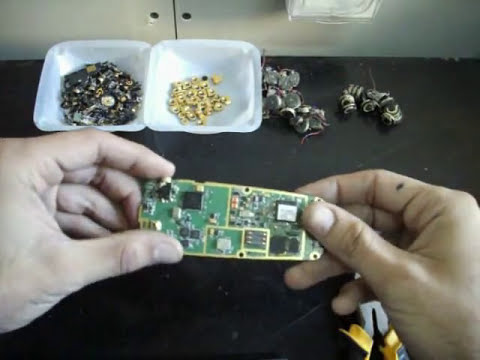 Cellphone - http://www.goldnscrap.com Short video showing how and what to scrap in old cell phones and prepare them for gold and other precious metals recovery. Also see...