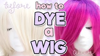 "Hi sweeties! In this video, I will show you how to dye a light-colored synthetic wig using both acrylic ink and by using the Sharpie method. In addition to showing you how to mix and apply both synthetic hair dyes, I will also show ya how to add dark roots to a synthetic wig with Sharpies and rubbing alcohol. I hope you enjoy this little wig customization experience for cosplay or everyday wear! Subscribe so ya don't miss the next wig vid! Warnings, links & discounts below~A few things I forgot to mention in the viddy:*Washing the wig will lead to the color fading, so I would recommend just spot cleaning the wig or washing it as infrequently as possible. It may need touchups as soon as after one wash. *ANOTHER WARNING ABOUT COLOR TRANSFER: It's possible! I don't want you guys ruining your clothes just because I haven't had a bad experience with it. If you are wearing a longer wig that touches your shirt/dress/costume, make sure it's rinsed really well, possibly seal it, and/or wear dark clothing. Check out the other videos in this series!How to Wear a Wig: https://youtu.be/LWm5xyyl-3QHow to Brush a Wig: https://youtu.be/XXjBStK2kLIHow to Store a Wig: https://youtu.be/l32BuM5n6nMHow to Wash a Wig: https://youtu.be/1wLBeQTJdA4How to Straighten a Wig: https://youtu.be/e3785bxXflQHow to: Lace Front Wigs: https://youtu.be/GW2a4LV172oWIGS:DISCOUNT CODE ""ALEXA10"" FOR 10% OFF!RockStar Wigs Boy Cut Shag in Light Blonde: http://bit.ly/1Uoa44xDISCOUNT CODE ""ALEXA10"" FOR 10% OFF!My Social Media:Facebook: http://on.fb.me/1qosyizInstagram: http://bit.ly/1oJbwMLTwitter: http://bit.ly/SvyfzkTumblr: http://bit.ly/1mdvoaDMusic: Thingamajig by Audionautix is licensed under a Creative Commons Attribution license (https://creativecommons.org/licenses/...)Artist: http://audionautix.com/"
