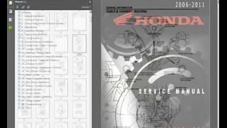 3. Honda TRX650FA-FGA (2006-11) Rincon ATV - Workshop, Service, Repair Manual