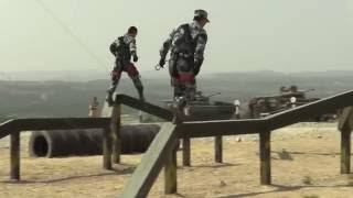 Первая тренировка команды КНР на горной полосе конкурса Десантный взвод