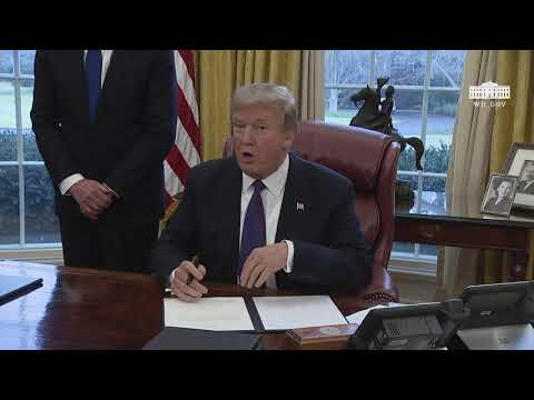 President Trump Signs Section 201 Actions