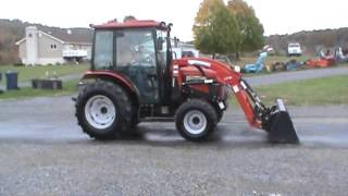 8. 2011 McCormick CT55U Compact Cab Tractor Loader Heat Air 165 Hours 4x4 For Sale