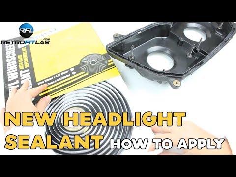 New headlight sealant how to apply