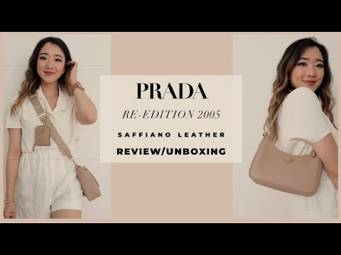 PRADA RE EDITION 2005 SAFFIANO LEATHER BEIGE UNBOXING & REVIEW