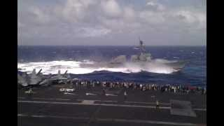 DDG-105 takes a nose-dive