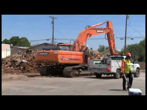 Old public library building comes down